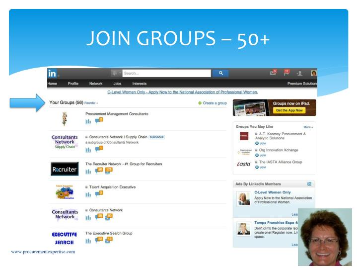 JOIN GROUPS – 50+