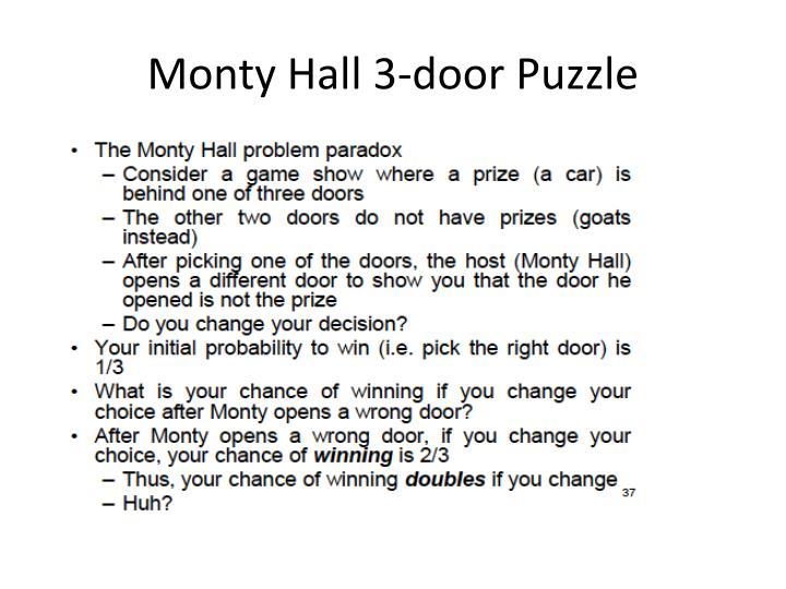 Monty Hall 3-door Puzzle