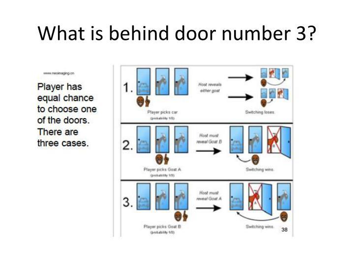 What is behind door number 3?