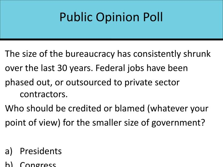 Public Opinion Poll