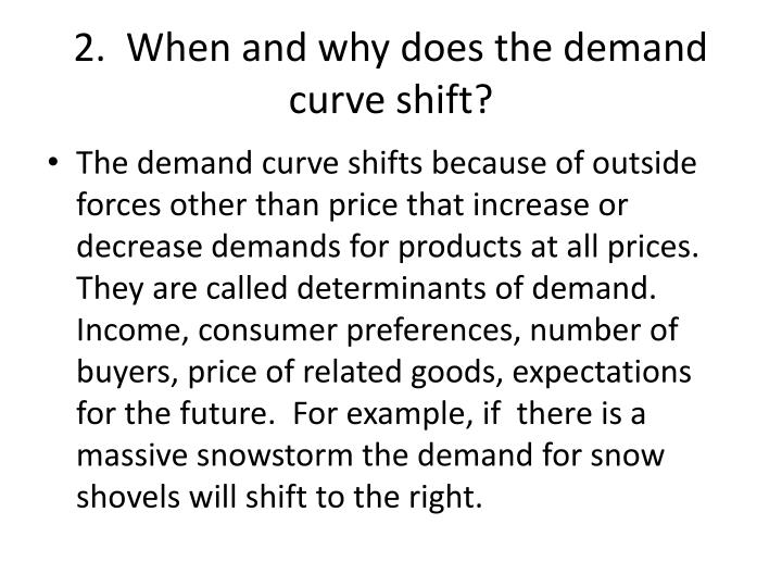 2.  When and why does the demand curve shift?