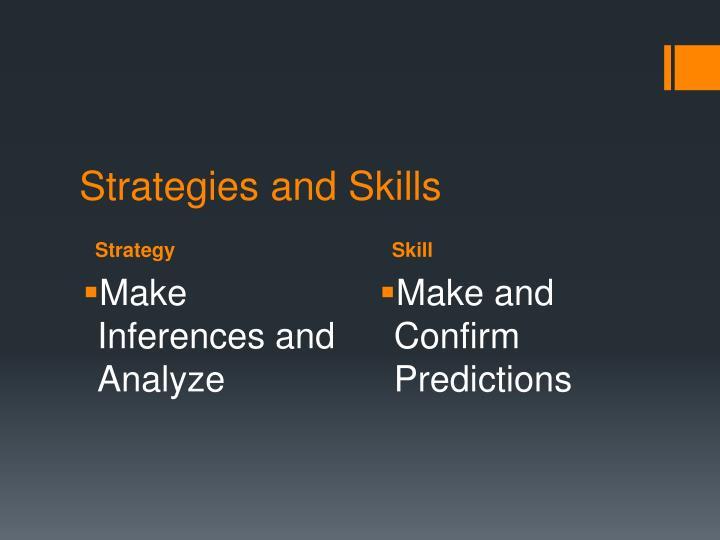 Strategies and skills