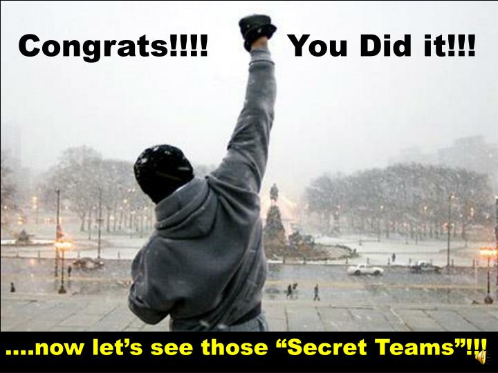 Congrats!!!!		  You Did it!!!
