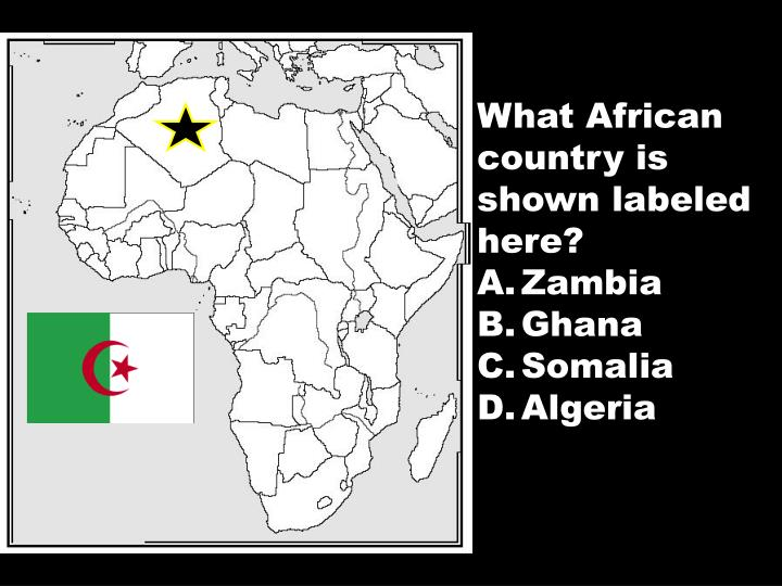 What African country is shown labeled here?