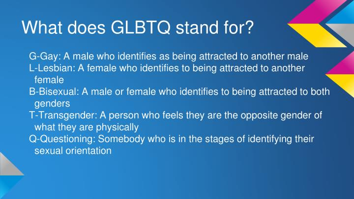 What does glbtq stand for