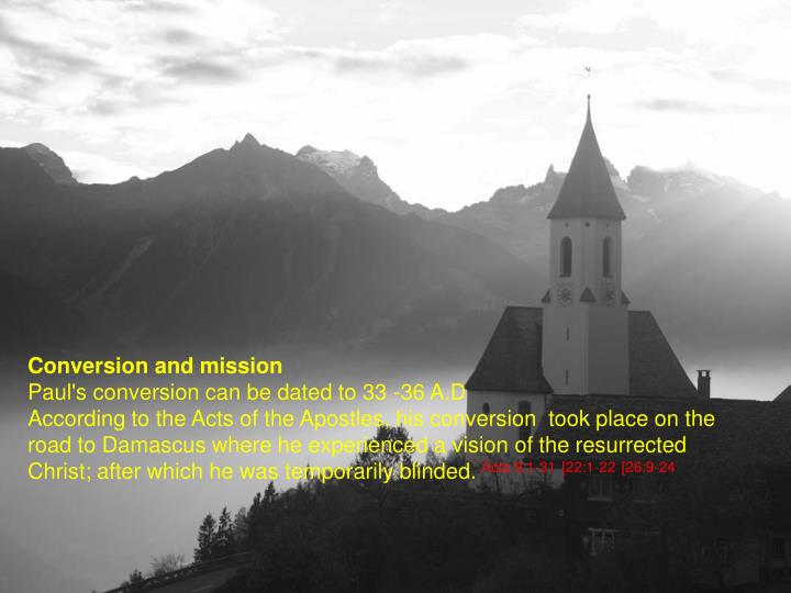Conversion and mission