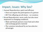 impact issues why sex