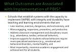 what outcomes are associated with implementation of pbis