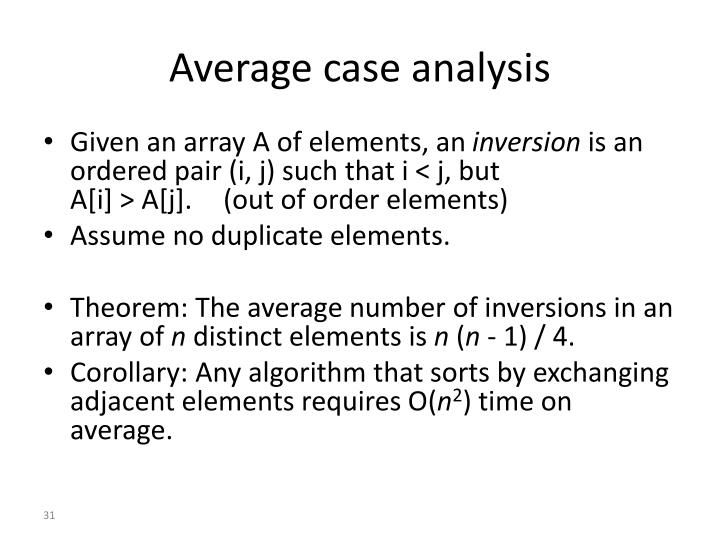 Average case analysis