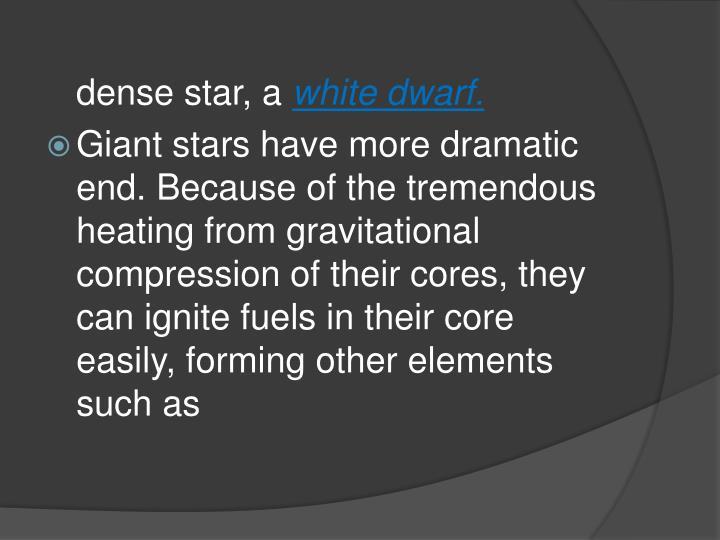 dense star, a