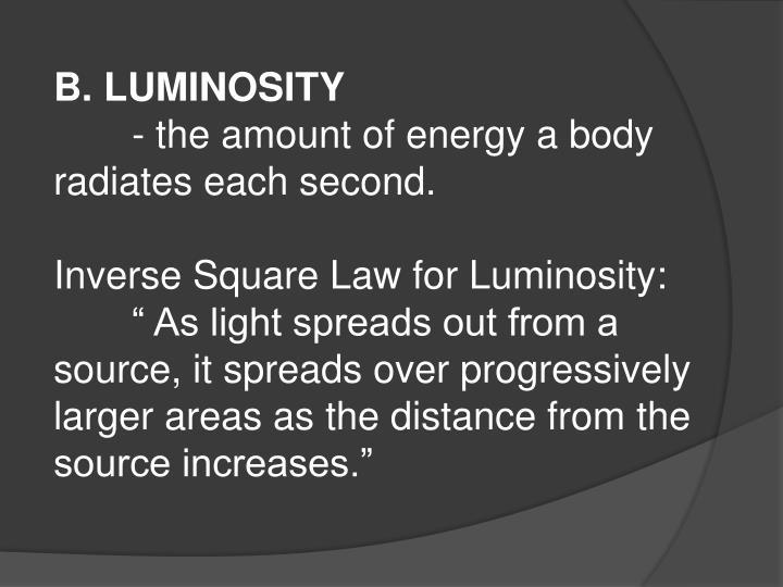 B. LUMINOSITY