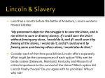 lincoln slavery