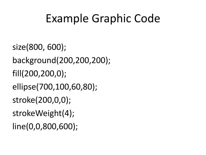Example graphic code