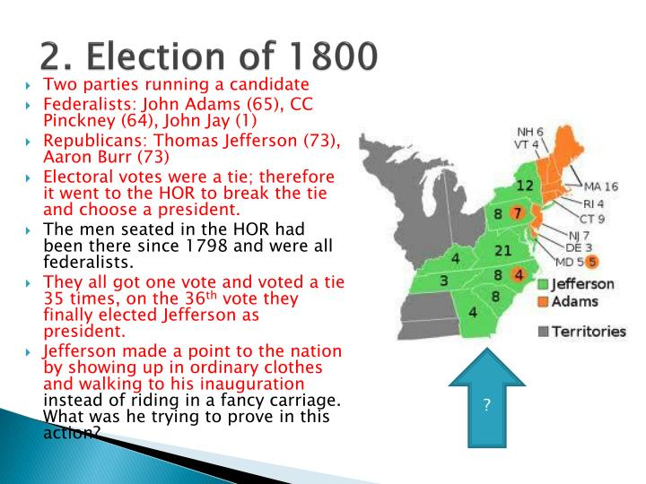 2. Election of 1800