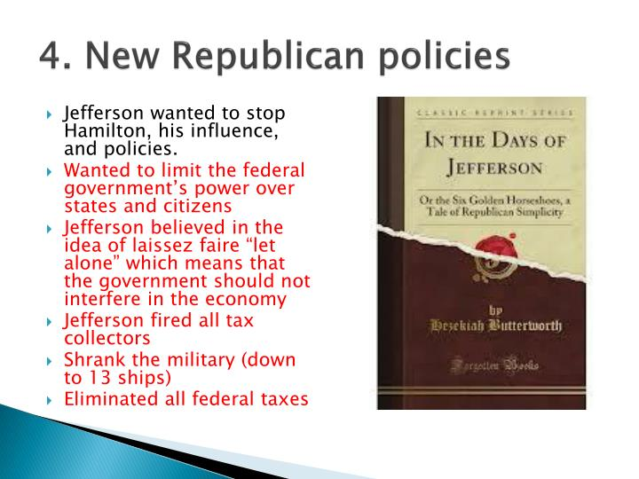 4. New Republican policies
