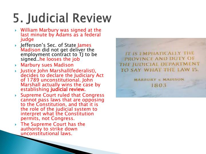 5. Judicial Review