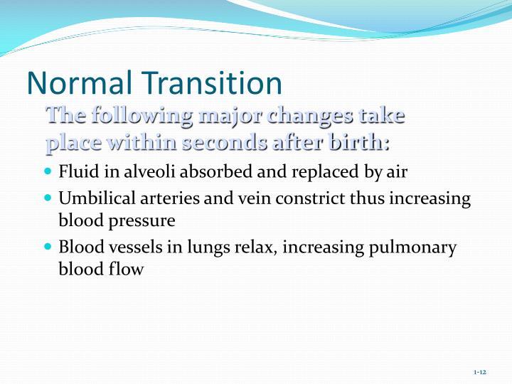 Normal Transition