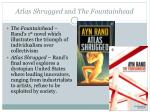atlas shrugged and the fountainhead