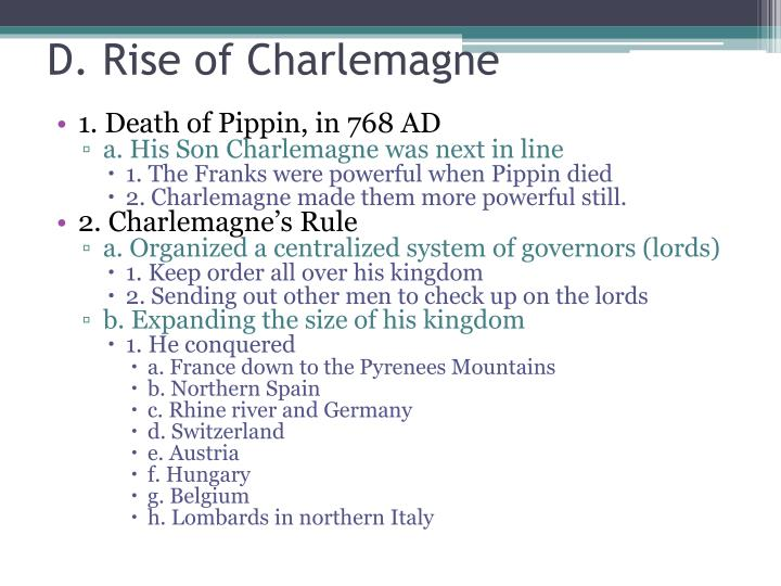 D. Rise of Charlemagne