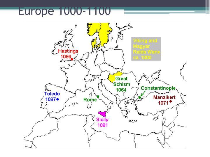 Europe 1000-1100