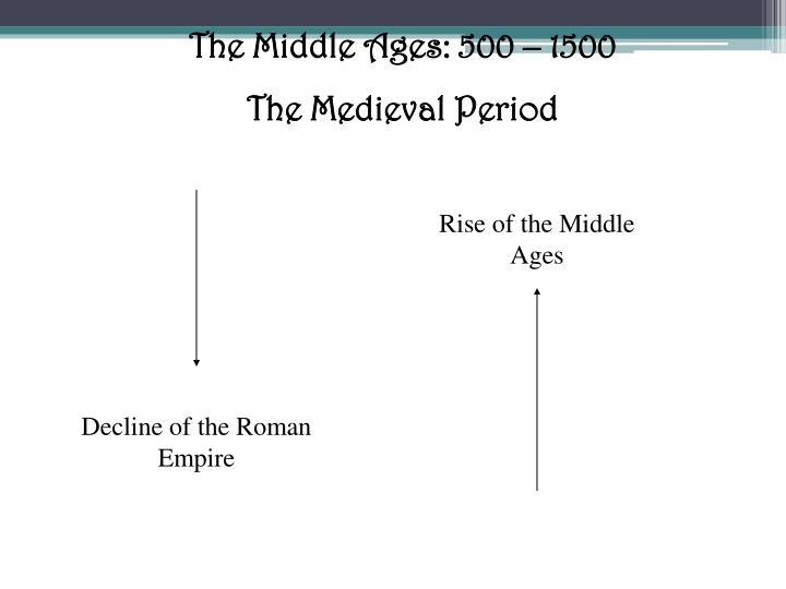 The Middle Ages: 500 – 1500