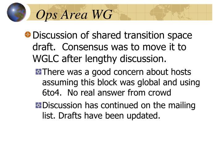Ops Area WG