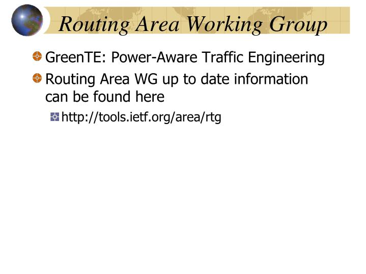 Routing Area Working Group