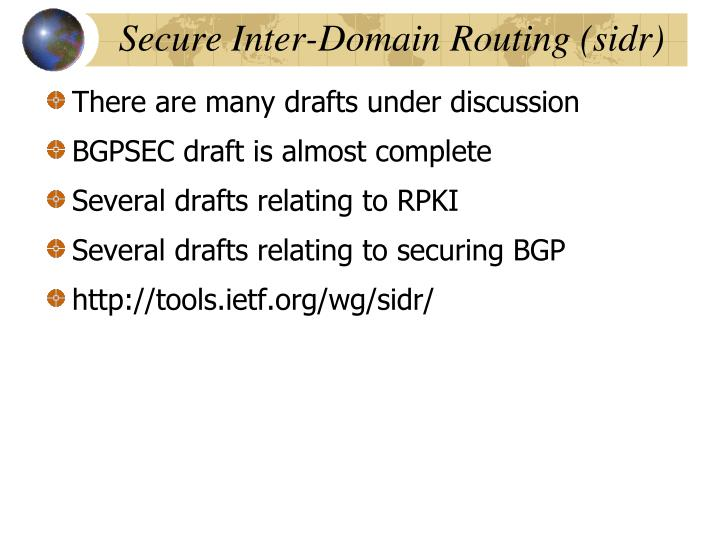 Secure Inter-Domain Routing (