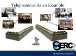 telepresence as an example