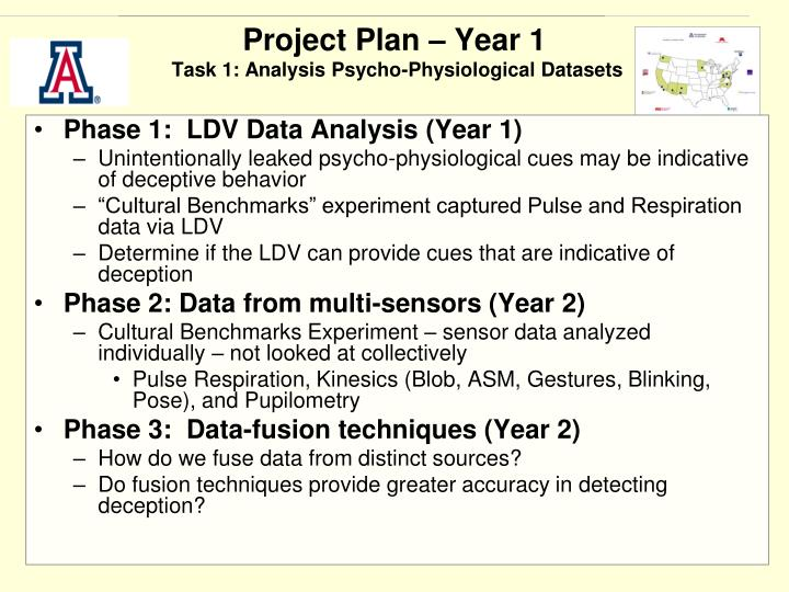 Project Plan – Year 1
