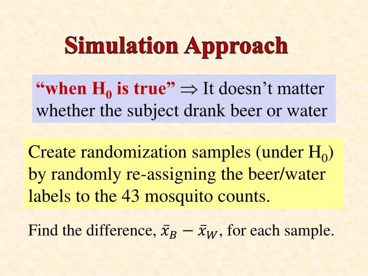 Simulation Approach