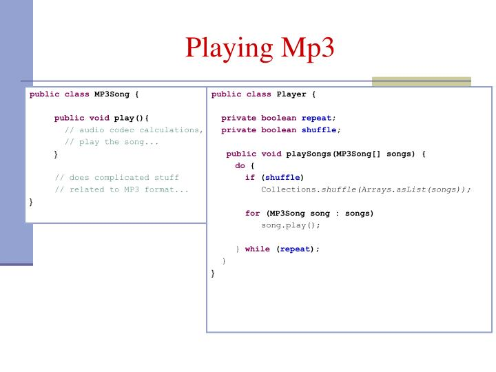 Playing Mp3