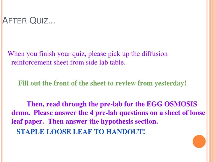 After Quiz...