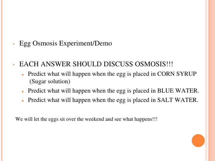 Egg Osmosis Experiment/Demo