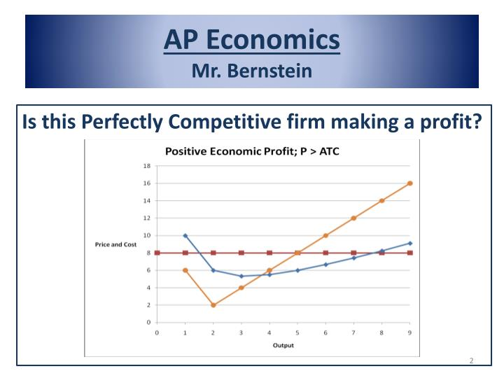 economics perfect competition Perfect competition is the name economists give to a market with many interchangeable firms, none of which can independently influence the market outcome this.