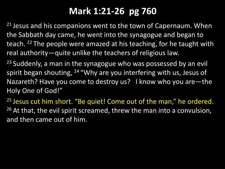 Mark 1:21-26
