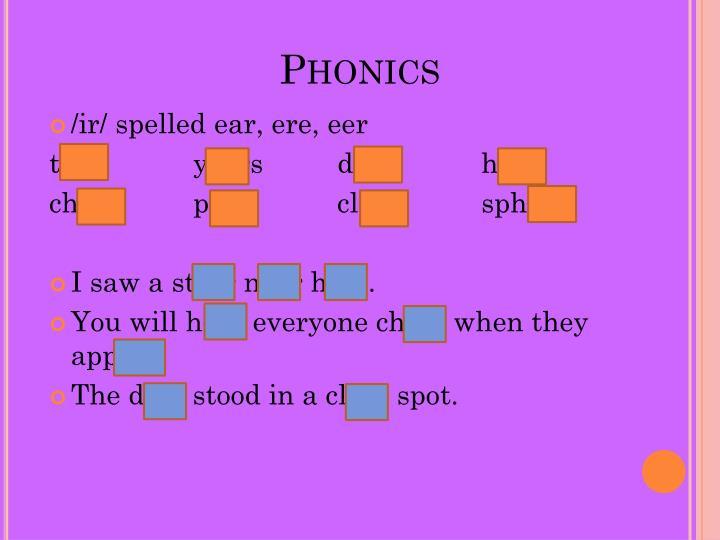 Phonics