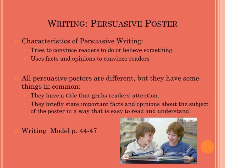 Writing: Persuasive Poster