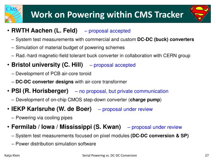 Work on Powering within CMS Tracker