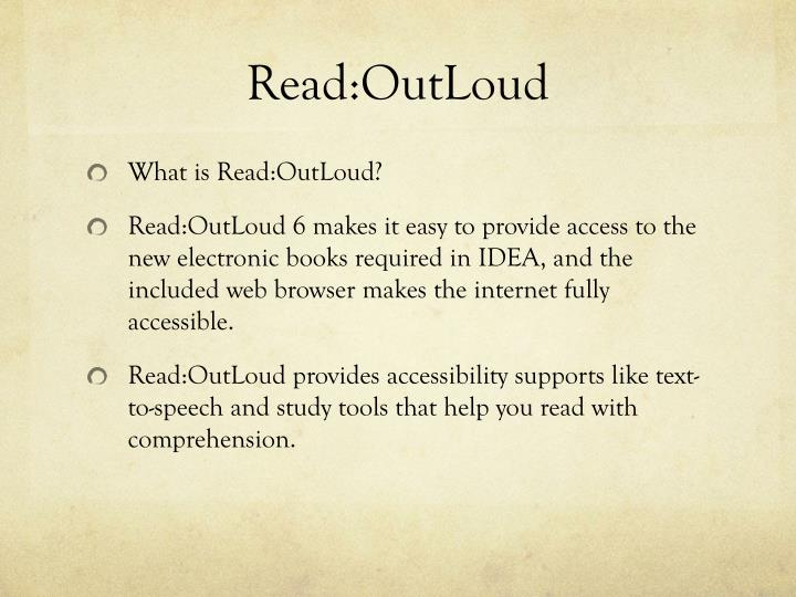 Read:OutLoud