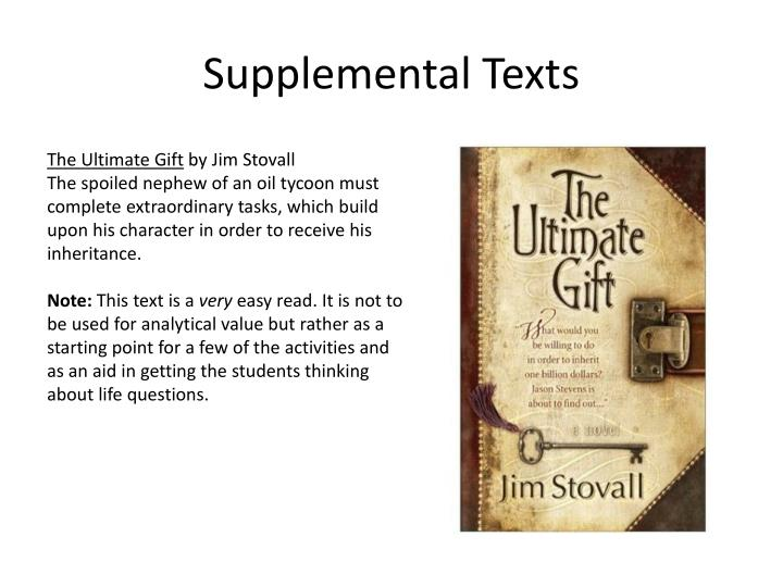 Supplemental Texts