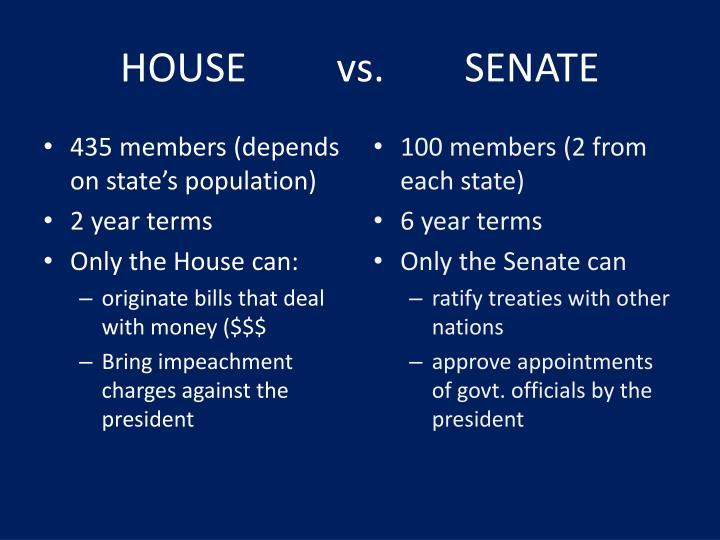 House vs senate