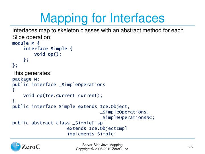 Mapping for Interfaces