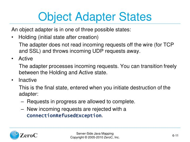 Object Adapter States