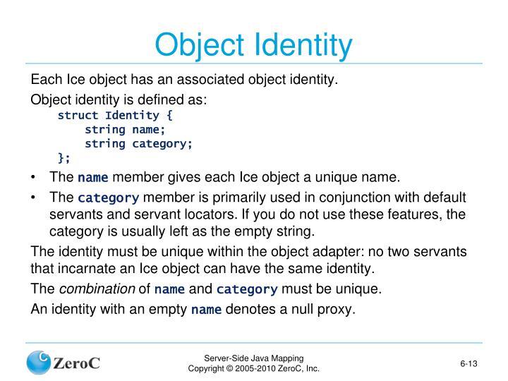 Object Identity
