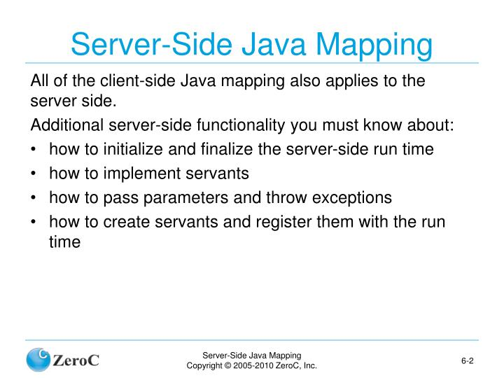 Server side java mapping