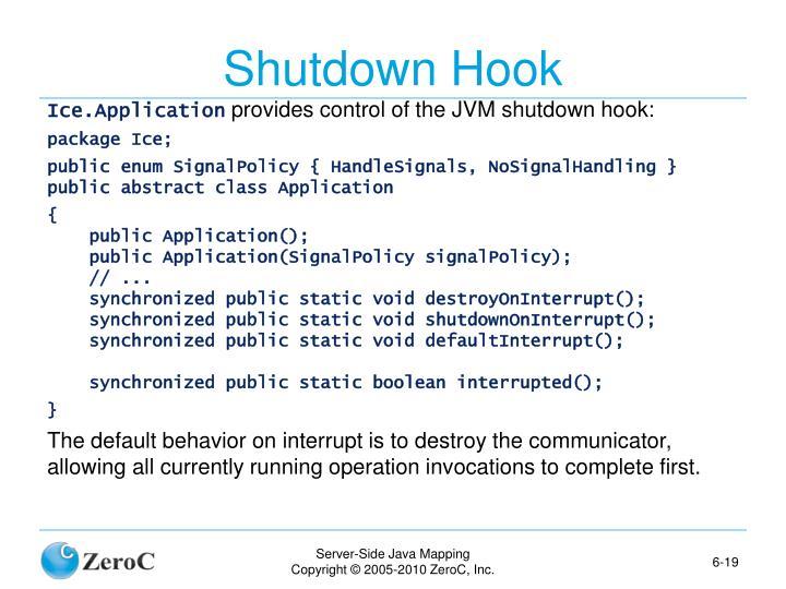Shutdown Hook
