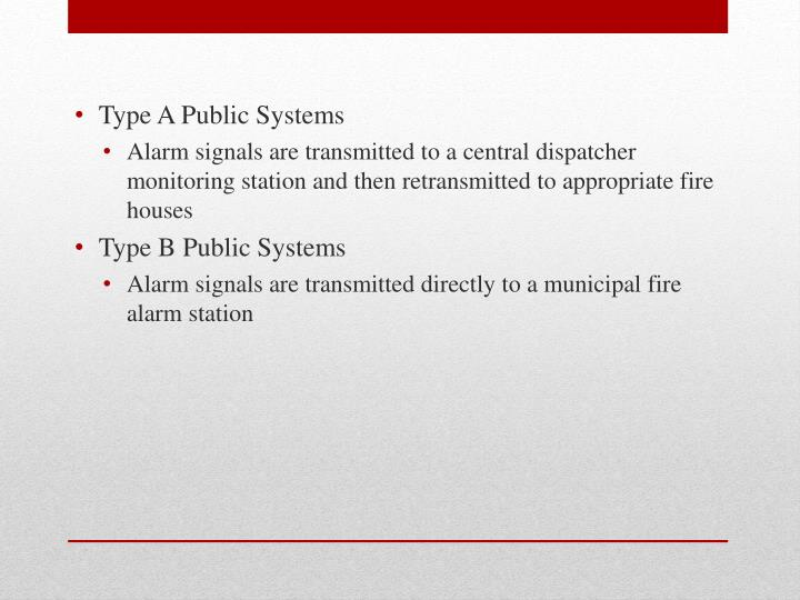 Type A Public Systems