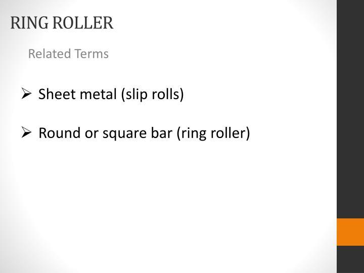 Sheet metal (slip rolls)